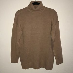 Tan Turtleneck Sweater from Forever 21